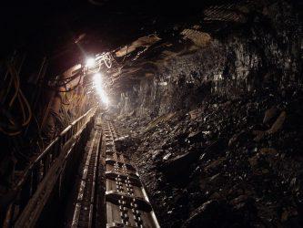A coal mine shaft.
