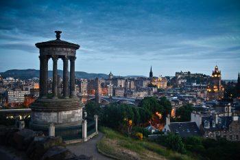 A view of Edinburgh.